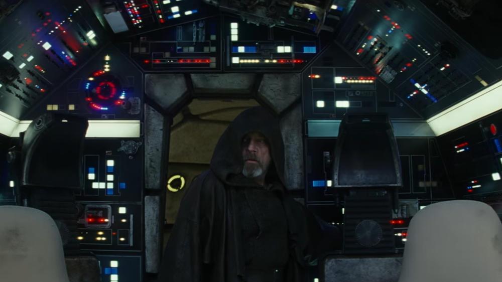 Luke Skywalker zurück im Millennium Falken